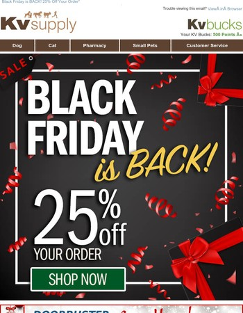 Missed Black Friday? Now's YOUR Chance!
