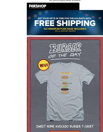 New Bob's Burgers Burger of the Day T-shirt and The Orville!