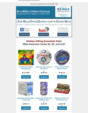 Holiday Gifts & Essentials Sale!