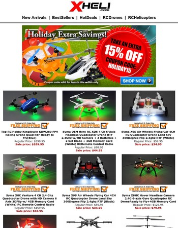 Hottest & Newest Helicopter & Drones Extra 15% OFF! Time Is Running Out!