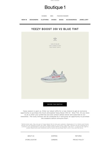 Yeezy Boost 350 V2 Blue Tine - Enter our new raffle for a chance to buy