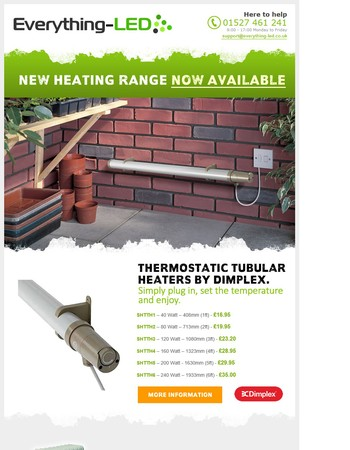 Stay Warm This Winter With Our New Heating Range