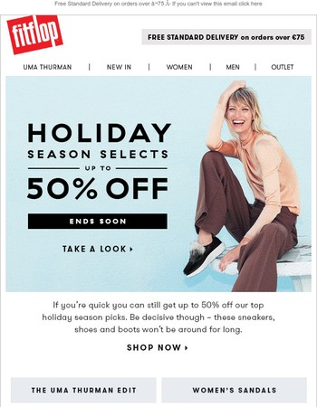 Up to 50% off Holiday Season Selects – ends soon