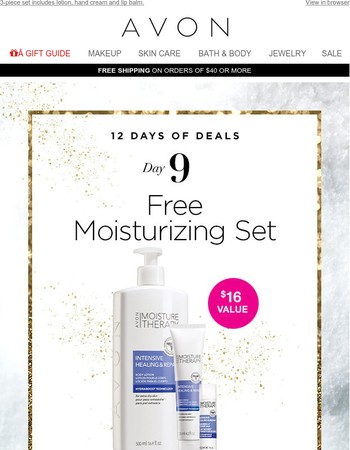 Day 9! FREE Moisture Therapy Set (Get It Before It's Gone Tonight!)