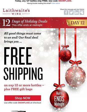 Attention | Your FREE shipping code – plus a FREE gift