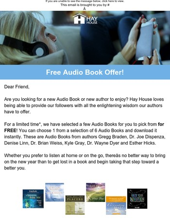 Claim Your FREE Audio Book Today!