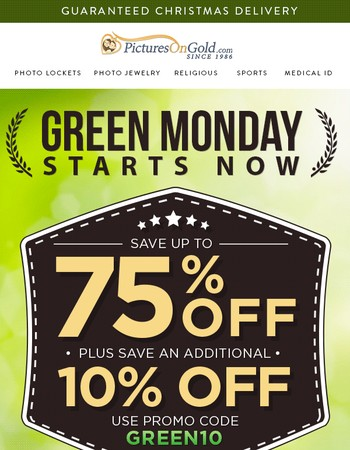 ✅ Green Monday = Your Final Chance To Save Big