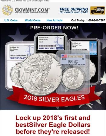 2018 Silver Eagles in Top Grades!