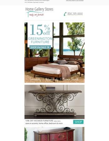 15% Off bamboo furniture from Greenington Furniture