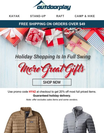 Holiday Shopping Is In Full Swing - More Great Gifts