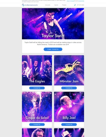 In Case You Missed It - Taylor Swift, The Eagles, Monster Jam and more!