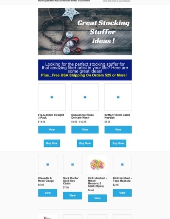 Stocking Stuffer Gift Ideas + Free Pattern + Free USA shipping on orders of $25+