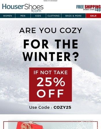 Warm up this winter with 25% off! ☃