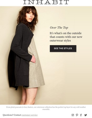 Take Cover... Get To Know Our New Outerwear Collection