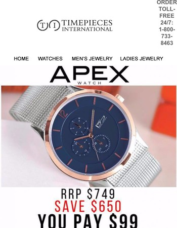 Apex Blue Watch For Only $99