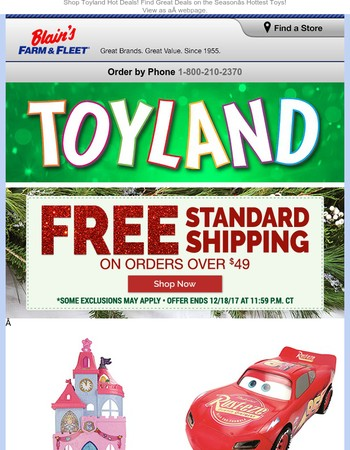 Save on the Hottest Toyland Toys + FREE Shipping on Orders over $49!