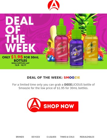 Deal Of The Week: $1.95 for 30mL Smoozie bottles
