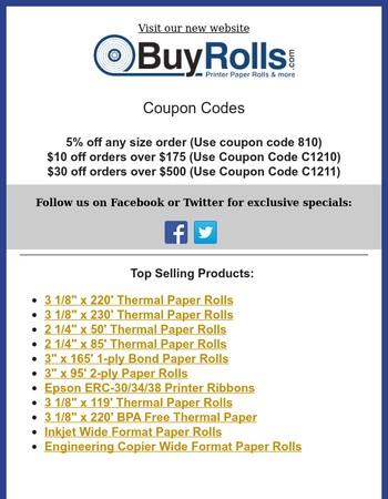 February Specials - BuyRolls.com