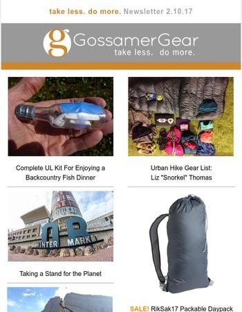 UL Fishing Setup, Liz Thomas' Urban Gear List, Meet Your Next Hiking Partner, Taking a Stand