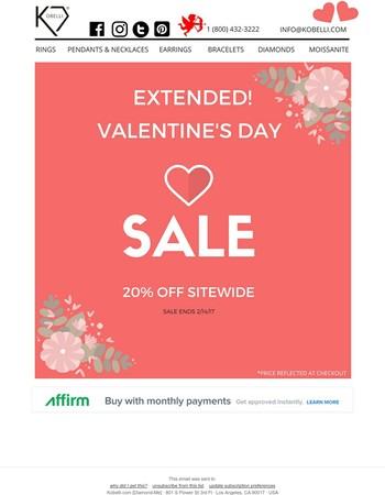 Extended! Valentine's DaySale ❤ 20% Off