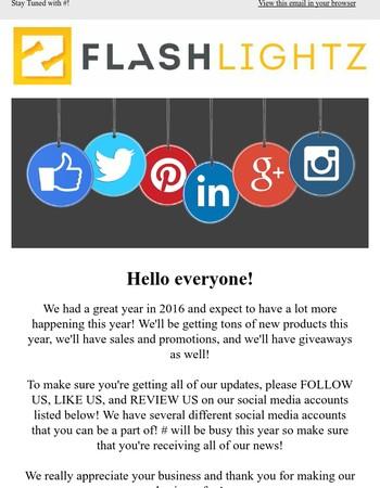 Specials + Follow Us On Social Media!