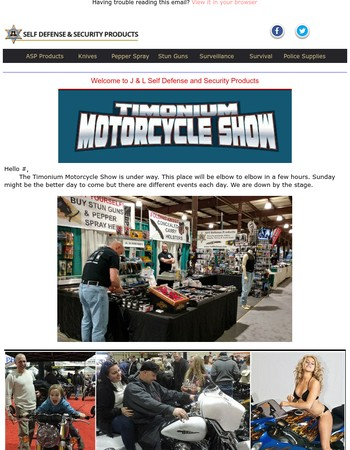 J & L News - Come See us at the Timonium Bike Show 2017