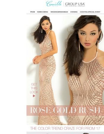 Crushing on Rose Gold PROM DRESSES!