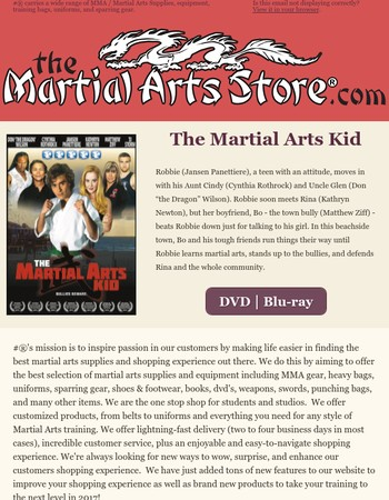 The Martial Arts Store Newsletter - February 2017