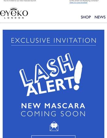 LASH ALERT!!! New Mascara Launch