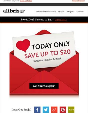 Love a Good Sale! $20 Off until Midnight
