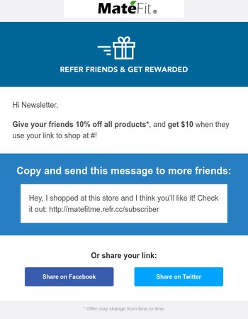 Don't forget: Refer friends and get $10