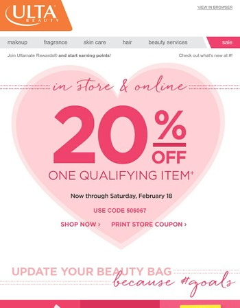 You're Worth It: 20% Off One Qualified Item!