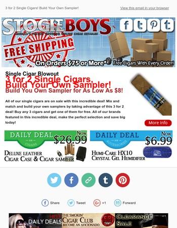This Week's Smokin Deal, Single Cigar Blowout!