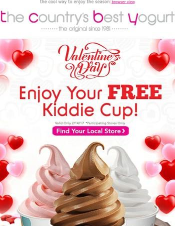 Enjoy Your FREE Kiddie Cup!