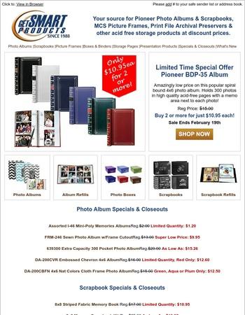 Big Savings On Pioneer Photo Albums - Ends Feb. 19th