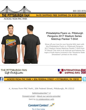 Penguins vs. Flyers 2017 Stadium Series Matchup T-Shirt