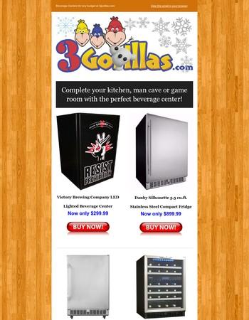 A Beverage Center for All Tastes & Budgets at 3Gorillas.com
