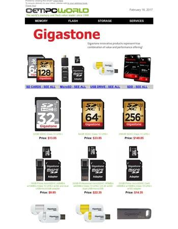 Gigastone Specials!