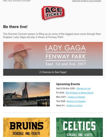 Lady Gaga, Red Sox & More