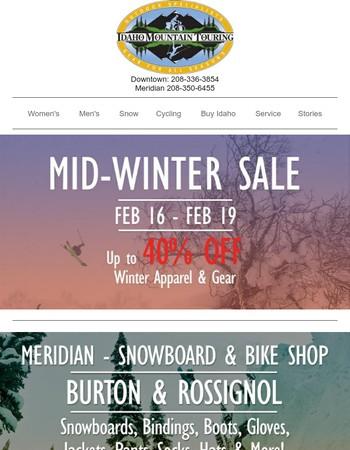 Mid-Winter Sale - Huge Discounts on Ski Clothing & Gear