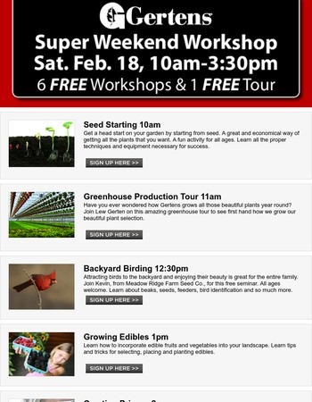 Super Weekend Workshops.