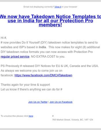 New DIY tools for India, EU & Canada