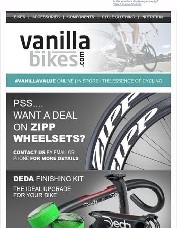 Zipp Wheels / Vittoria Tyre Bundles / Vermarc Rain Jacket