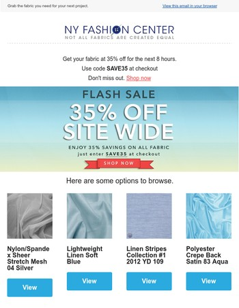 [Flash Sale] - starts now 35% off