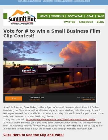 Vote for Summit Hut & Banff Film Lineup Announced!