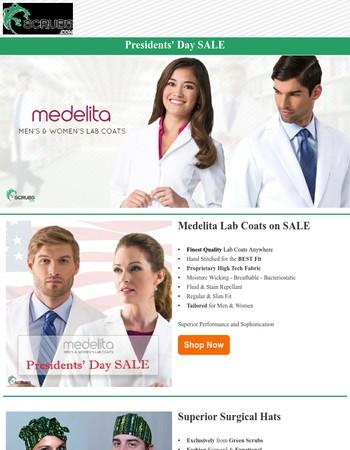 Presidents' Day SALE - Medelita Lab Coats 20% Off