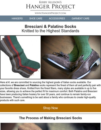 The Finest Italian-Knitted Socks: Bresciani & Palatino
