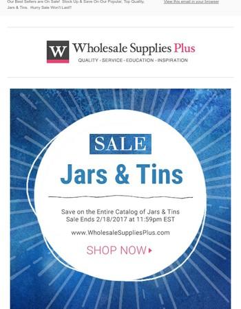FINAL SALE HOURS: Plastic Jar & Metal Tins
