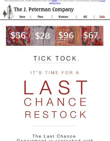 Last chance restock - Get it before it's gone.