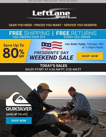 Save up to 80% + Quiksilver, Anon, Burton, Snow Helmets and Louis Garneau